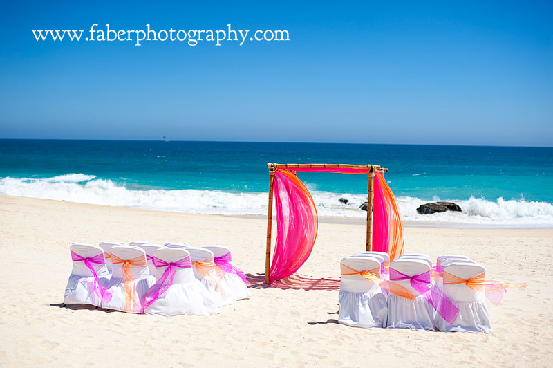 Dreams Los Cabos Beach Wedding Setup Photograph
