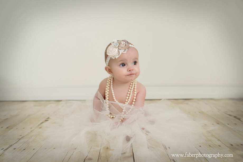 6 Month Baby Girl Tutu Studio Portraits