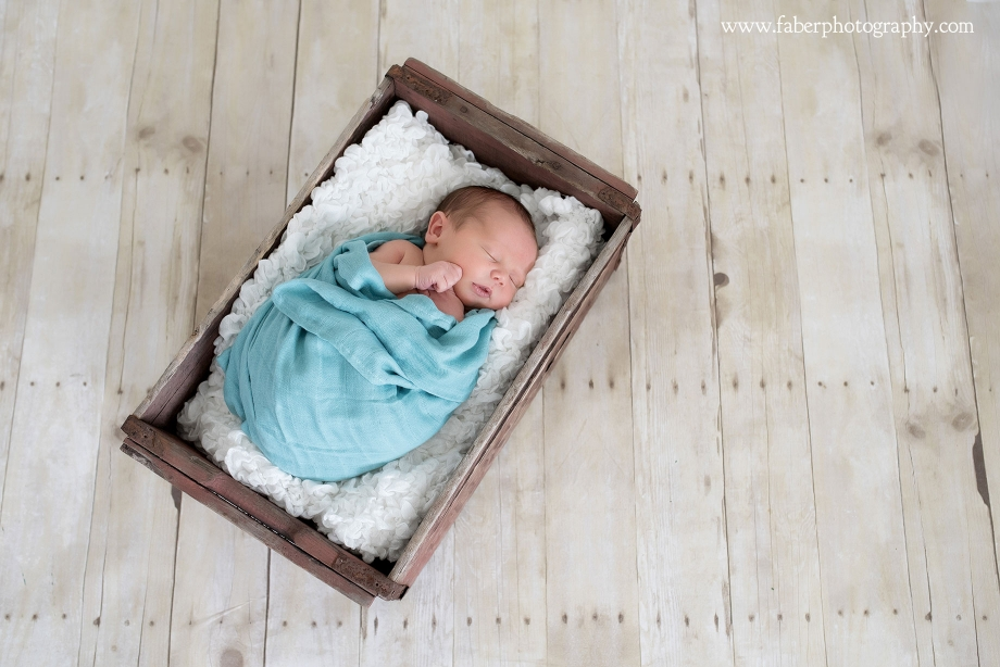 Newborn Boy Crate Photos